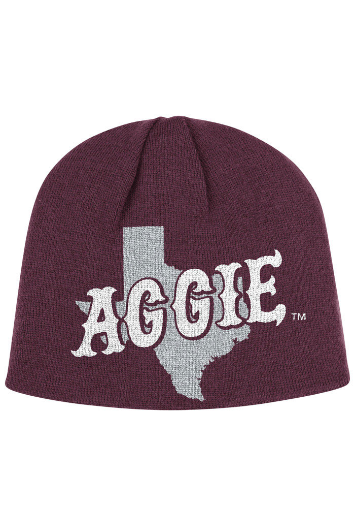 Adidas Texas A&M Aggies Maroon Localized Mens Knit Hat - Image 1