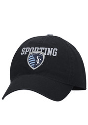 Adidas Sporting Kansas City Mens Black Contrast Slouch Adjustable Hat