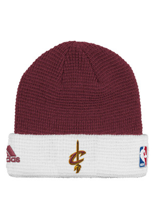 Adidas Cleveland Cavaliers Maroon Authentic Cuffed Knit Hat