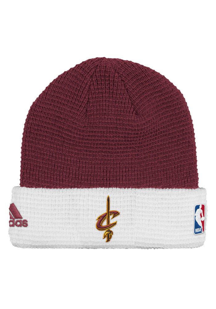 Adidas Cleveland Cavaliers Maroon Authentic Cuffed Mens Knit Hat - Image 1