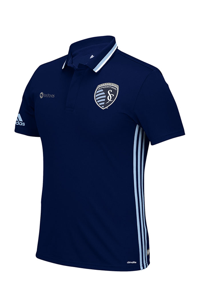 Sporting Kansas City Adidas Sideline Team Polo Shirt - Navy Blue