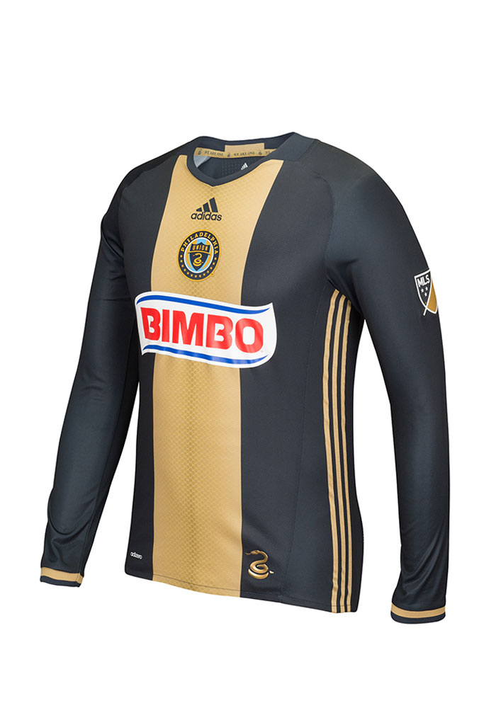 best service a41d2 4e3ac Philadelphia Union Mens Adidas Authentic Soccer Primary Jersey - Navy Blue