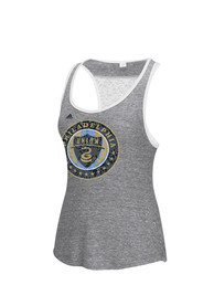 Philadelphia Union Womens Adidas Logo Scarf Tank Top - Grey