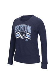 Adidas SKC Womens Navy Blue Crew Sweatshirt