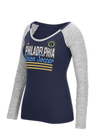 Adidas Philadelphia Union Womens Marled Slub Scoop Neck Tee