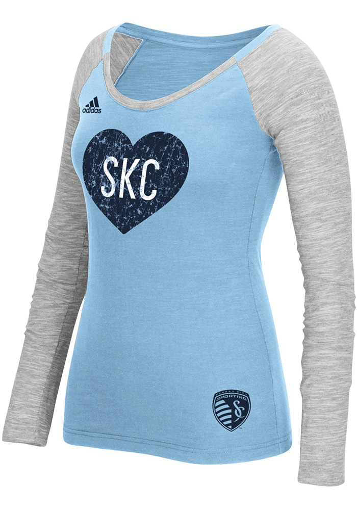 Adidas Sporting Kansas City Womens Slub Scoop Neck Tee
