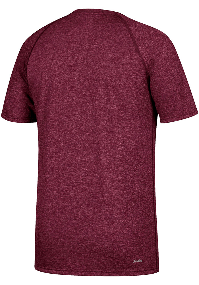 Adidas Texas A&M Aggies Maroon Sideline Hustle Short Sleeve T Shirt - Image 2