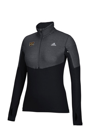 Adidas Western Michigan Broncos Womens Light Weight Black 1/4 Zip Pullover