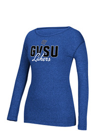 Adidas Grand Valley State Lakers Womens Mascot Script Blue T-Shirt