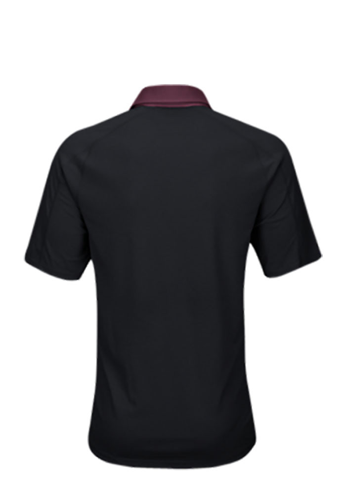 Adidas Texas A&M Aggies Mens Black Climachill Short Sleeve Polo - Image 2