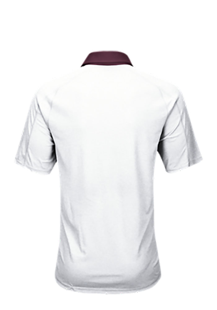 Adidas Texas A&M Aggies Mens White Climachill Short Sleeve Polo - Image 2