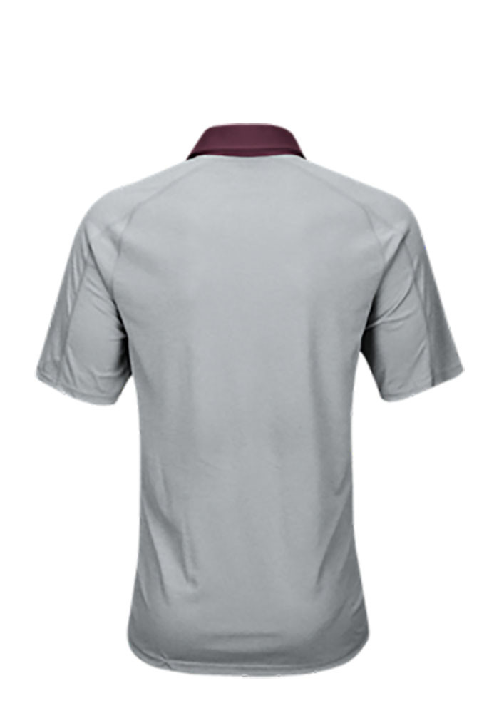 Adidas Texas A&M Aggies Mens Grey Climachill Short Sleeve Polo - Image 2
