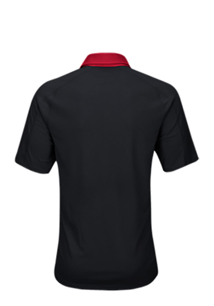 Adidas Louisville Cardinals Mens Black Climachill Short Sleeve Polo - Image 2