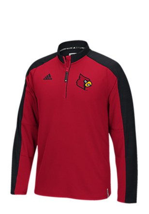 Adidas Louisville Cardinals Mens Red Sideline 1/4 Zip Pullover