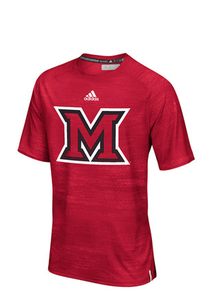 Adidas Miami Redhawks Mens Red Training Tee
