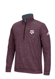 Adidas Texas A&M Mens Maroon Training 1/4 Zip Performance Pullover