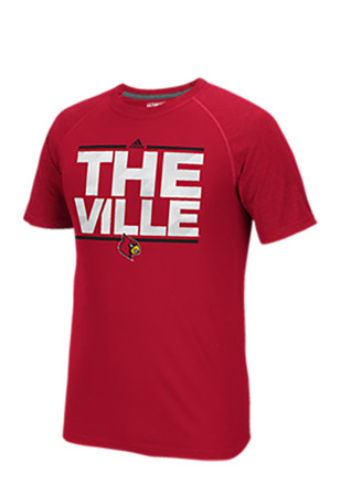 Adidas Louisville Cardinals Mens Red Training Tee