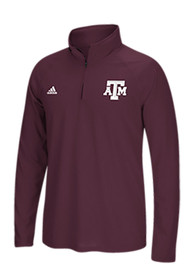 Texas A&M Aggies Adidas Primary 1/4 Zip Pullover - Maroon