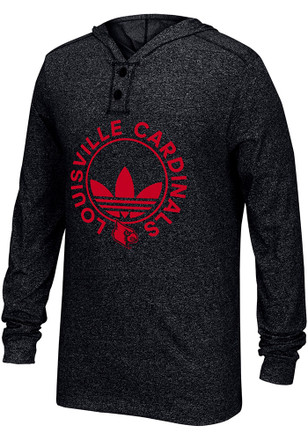 Adidas Louisville Cardinals Mens Black Originals Fashion Tee