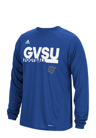 Adidas Grand Valley State Lakers Blue Grind Football Tee