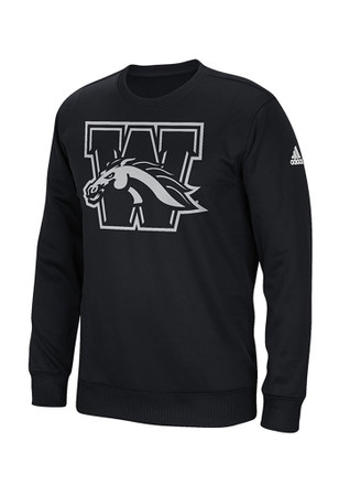 Adidas Western Michigan Broncos Mens Black Sideline Sweatshirt