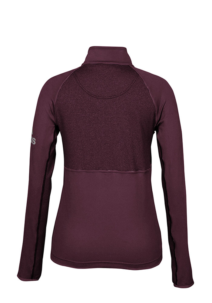 Adidas Texas A&M Womens Maroon Performer 1/4 Zip Pullover - Image 2