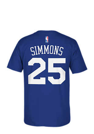 Ben Simmons Philadelphia 76ers Mens Blue Name and Number Player Tee