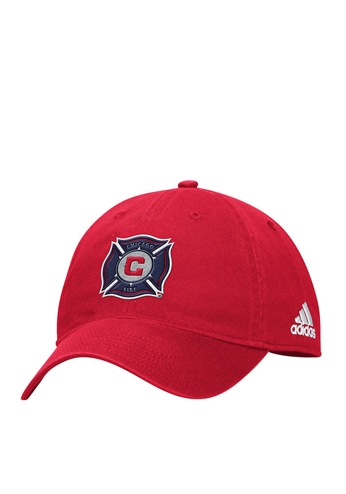 Adidas Chicago Fire Mens Red Slouch Adjustable Hat - Image 1