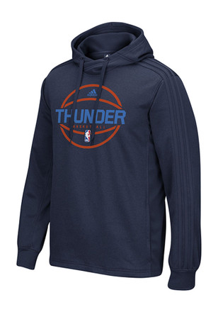 Adidas OKC Mens Navy Blue On-Court Hoodie