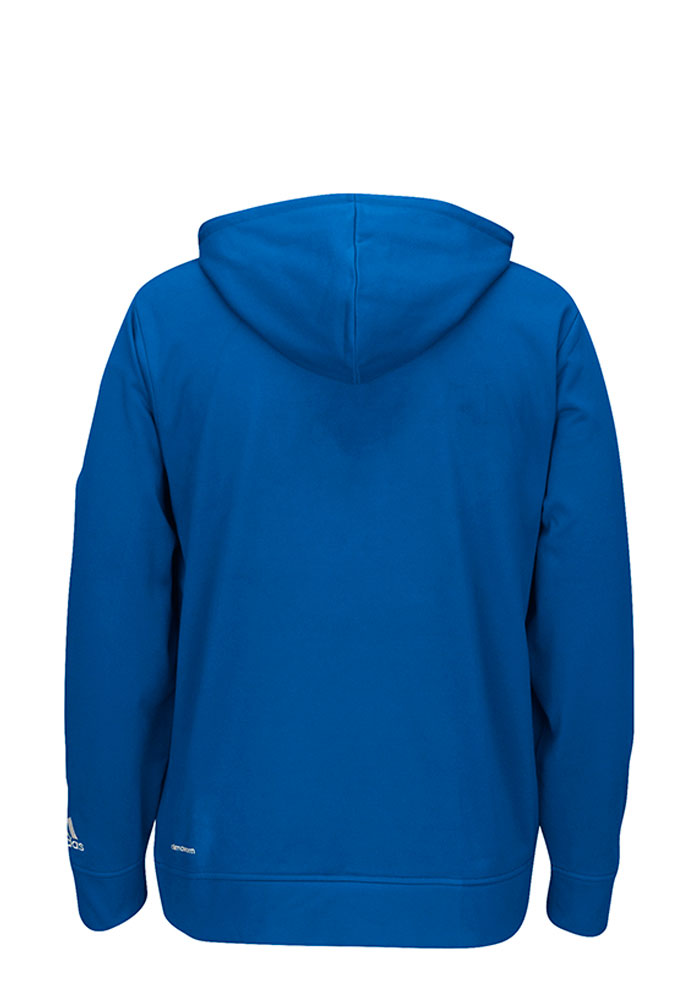 Adidas Dallas Mavericks Mens Blue Tip-Off Hood - Image 2