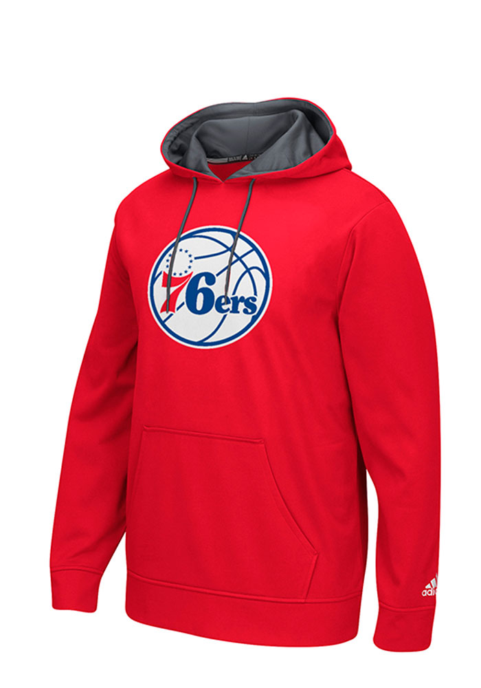 Adidas Philadelphia 76ers Mens Red Tip-Off Hood - Image 1