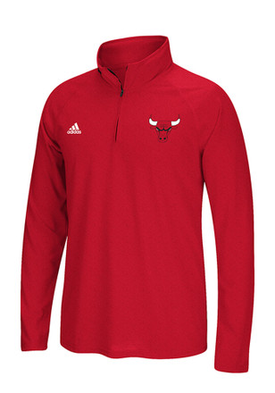 Adidas Chicago Bulls Mens Red Ultimate 1/4 Zip Pullover