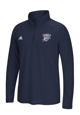 Adidas OKC Mens Navy Blue Ultimate 1/4 Zip Performance Pullover