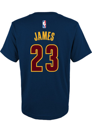 LeBron James Outer Stuff Cleveland Cavaliers Kids Screen Print Navy Blue Player Tee