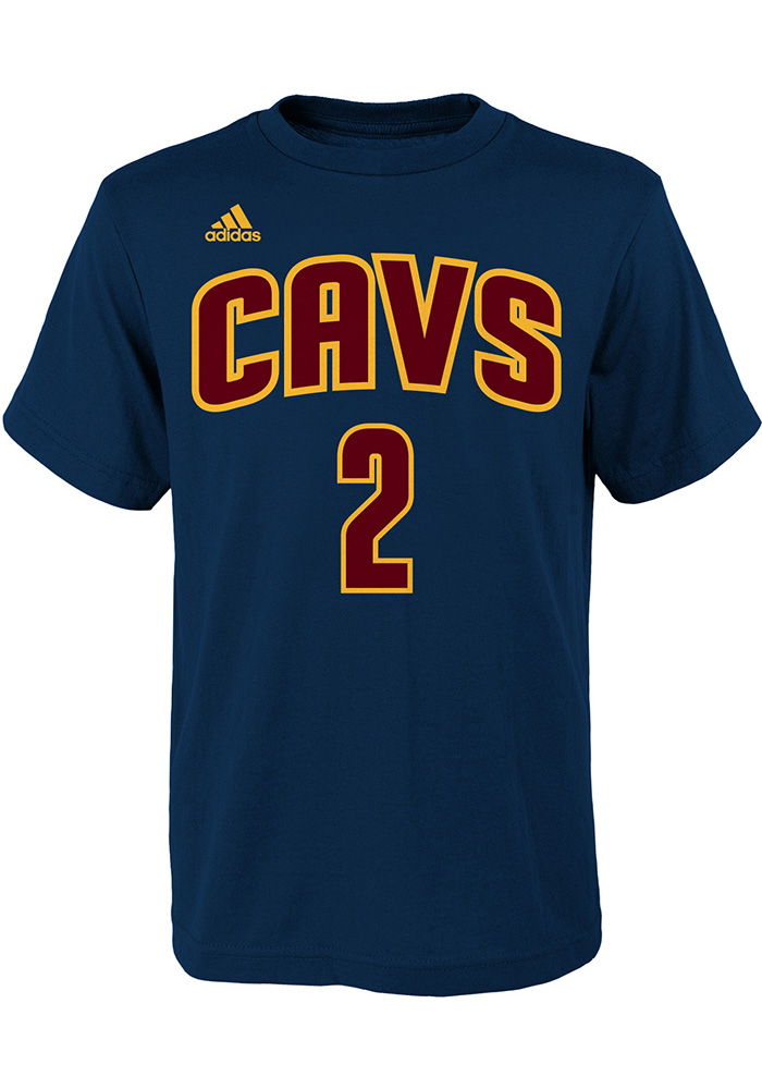 Kyrie Irving Cleveland Cavaliers Kids Navy Blue Screen Print Player Tee - Image 1