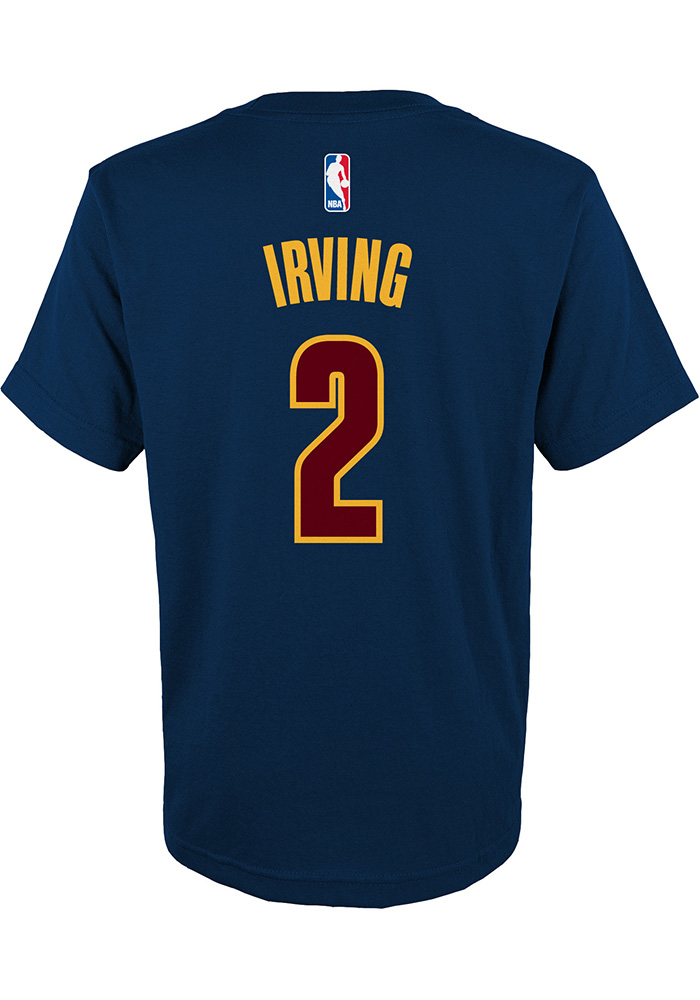 Kyrie Irving Cleveland Cavaliers Kids Navy Blue Screen Print Player Tee - Image 2