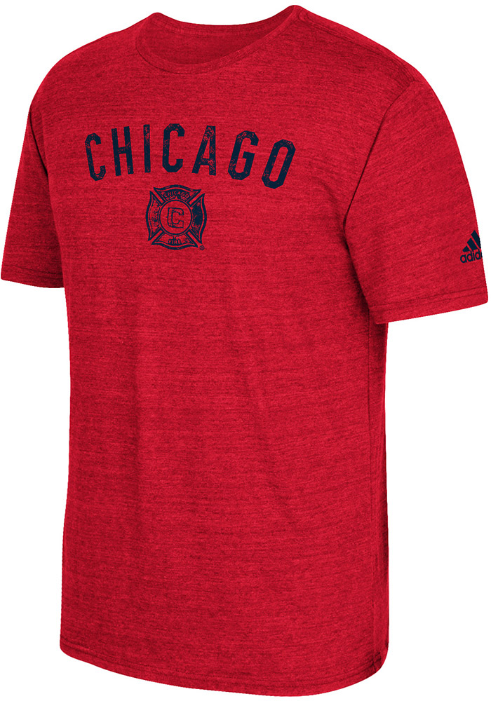Adidas Chicago Fire Red City Worn Short Sleeve Fashion T Shirt - Image 1