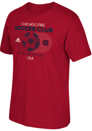 Adidas Chicago Fire Mens Red Soccer World Fashion Tee