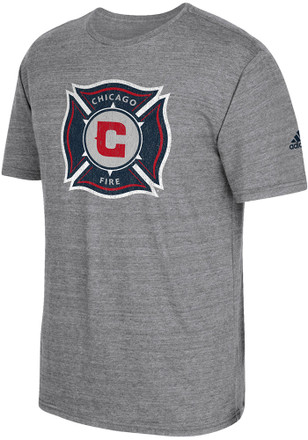 Adidas Chicago Fire Mens Grey Vintage Too Fashion Tee