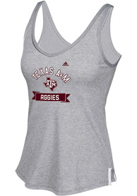 Adidas Texas A&M Aggies Juniors Grey Bottom Banner Tank Top