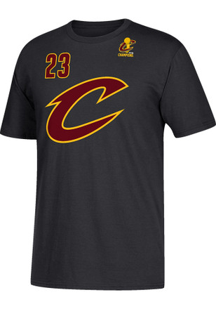 LeBron James Cleveland Cavaliers Mens Black Name and Number Player Tee
