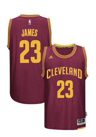 LeBron James Adidas Cleveland Cavaliers Mens Maroon Swingman Basketball Jersey