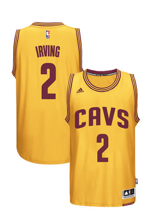 Kyrie Irving Adidas Cleveland Cavaliers Mens Yellow Swingman Basketball Jersey