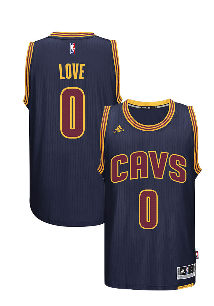 Kevin Love Adidas Cleveland Cavaliers Mens Navy Blue Swingman Jersey - Image 1