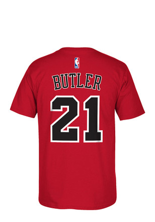 Jimmy Butler Chicago Bulls Mens Red 7-Series Player Tee