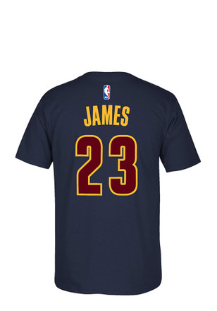 LeBron James Cleveland Cavaliers Mens Navy Blue 7-Series Player Tee