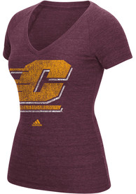 Adidas Central Michigan Chippewas Womens Maroon Ultimate V-Neck