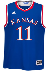 the best attitude 68469 7898b Adidas Kansas Jayhawks Blue Replica Basketball Jersey
