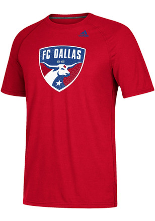 Adidas FC Dallas Mens Red Tiled Tee