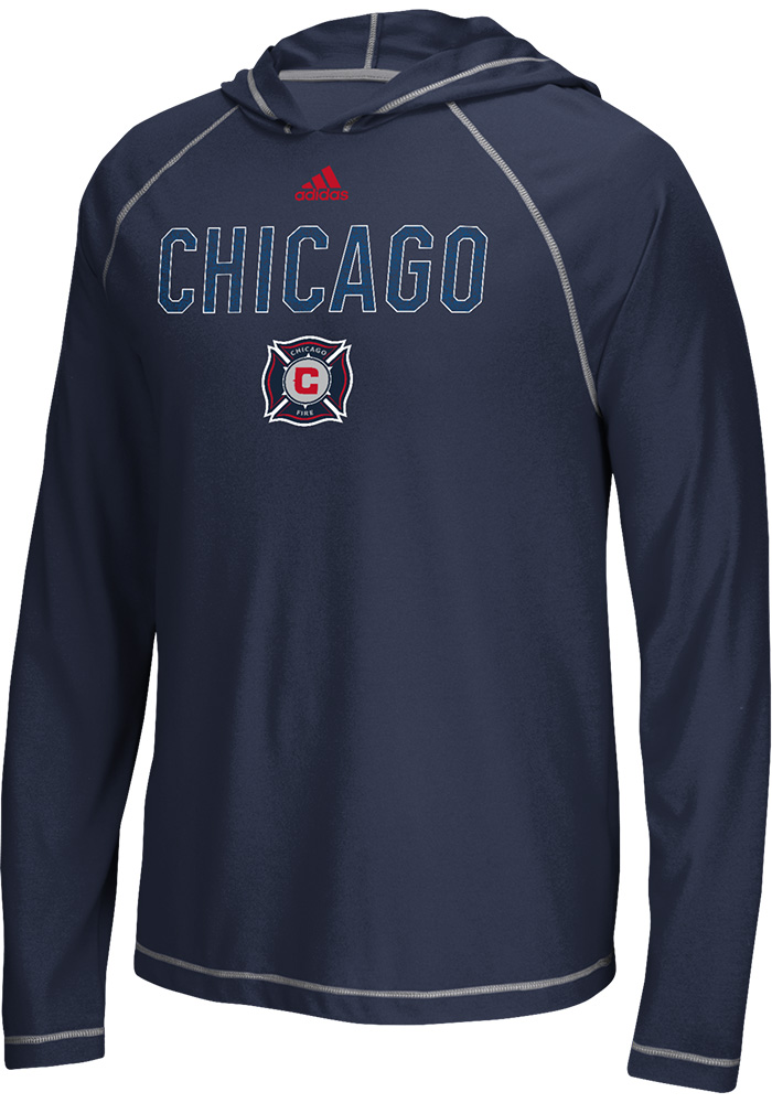 Adidas Chicago Fire Navy Blue Base Long Sleeve T-Shirt - Image 1